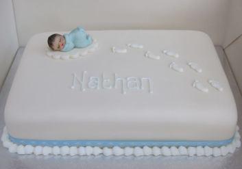 Classic christening cake