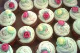 Floral vanilla cupcakes