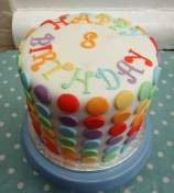 Dotty rainbow cake