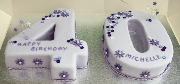 A traditional birthday cake