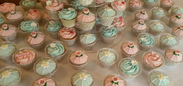 Hundreds of cupcakes