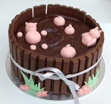 Pigs in (chocolate ganache) muck
