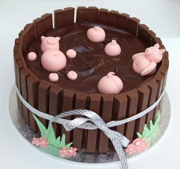 Pigs in (chocolate ganache) muck