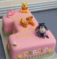 Pooh piglet and eeyore cake