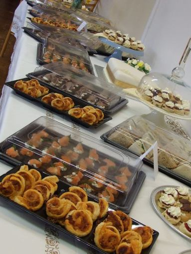 A 50th Anniversary party spread.