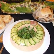 Salmon mousse with melba toast
