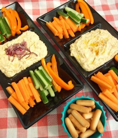 Home made hummus and veggies