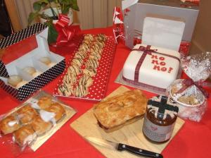 Christmas cake, pork pie, sausage rolls, and macaroons to tempt you!