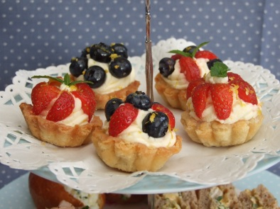 Filled with creme patisserie and fresh fruits