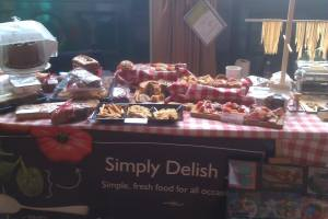 My stall at the Hungerfood Food Festival - before all the hungry shoppers!