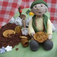 80th eighteith birthday cake close up