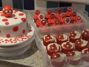 Red Nose Day cake and cupcakes for T K Maxx Newbury