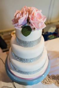 Bling wedding cake