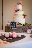 Cake and macarons wedding