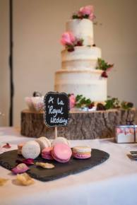 Cake and macarons wedding